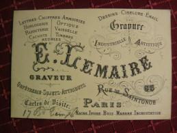GRAVEUR PARIS E.LEMAIR - Pubblicitari