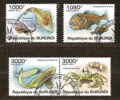 Burundi 2011 OCBn° 1222-25 (°) Used Cote 15 Euro Faune Marine - Burundi