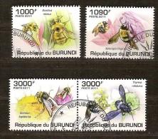 Burundi 2011 OCBn° 1230-33 (°) Used Cote 15 Euro Faune Insectes Abeilles - Burundi
