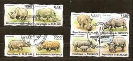 Burundi 2011 OCBn° 1270-77 (°) Used Cote 30 Euro Faune  Les Rinoceros Neushoorns
