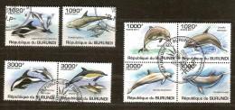 Burundi 2011 OCBn° 1278-85 (°) Used Cote 30 Euro Faune Les Dauphins Dolfijnen