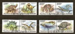 Burundi 2011 OCBn° 1286-93 (°) Used Cote 30 Euro Faune Dinosaurussen