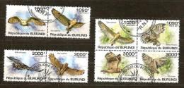 Burundi 2011 OCBn° 1310-17 (°) Used Cote 30 Euro Faune Oiseaux Uilen Hiboux
