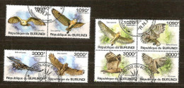 Burundi 2011 OCBn° 1310-17 (°) Used Cote 30 Euro Faune Oiseaux Uilen Hiboux - Burundi