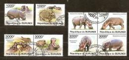 Burundi 2011 OCBn° 1318-25 (°) Used Cote 30 Euro Faune Nijlpaarden Hippopotames