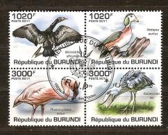 Burundi 2011 OCBn° 1330-33 (°) Used Cote 15 Euro Faune Oiseaux Vogels Birds