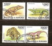 Burundi 2011 OCBn° 1350-53 (°) Used Cote 15 Euro FauneCrocodiles