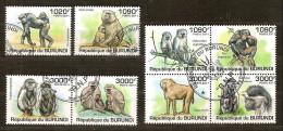 Burundi 2011 OCBn° 1358-65 (°) Used Cote 30 Euro Faune Apen Primates - Burundi