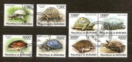 Burundi 2011 OCBn° 1366-73 (°) Used Cote 30 Euro Faune Schildpadden Tortues