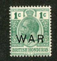 W1324  Br.Honduras 1918   Scott #MR4*   Offers Welcome! - British Honduras (...-1970)