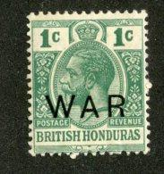 W1328  Br.Honduras 1918   Scott #MR4*   Offers Welcome! - British Honduras (...-1970)