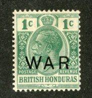 W1330  Br.Honduras 1918   Scott #MR4*   Offers Welcome! - British Honduras (...-1970)