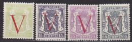 BELGIQUE/BELGIE/BELGIUM/BELGIEN -1944 -Nrs 670,671,672,673 Y&T - Serie Complet-volledige Serie - * - Belgique