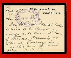 GB 1906 Mourning Postcard London SE (B838) - 1902-1951 (Kings)