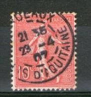 N° 129 III°_rose-rouge Bordeaux 1907_tres Bon Centrage - 1903-60 Sower - Ligned