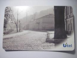 Ukraine. Kyiv City View. Fog  (I) 50  Units Pre-paid Chip UTEL Phone Card. - Ukraine