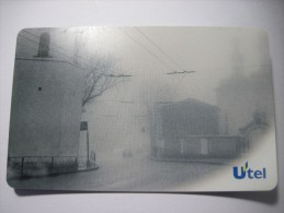 Ukraine. Kyiv City View. Fog  (III) 200 Units Pre-paid Chip UTEL Phone Card. - Ukraine
