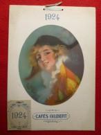 CALENDRIER 1924 CAFES GILBERT Par RENÉ PEAN - Calendari
