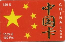 CARTE-PREPAYEE-.15.24€-100F-120U-PHENIX-PTI-CHINA CARD-31/12/2002-V°N°sur Fond Blanc- BE- - Autres Prépayées