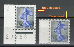 2 N° 1234A**_1 Bleu Déplacé Et 1 Normal - Nuevos