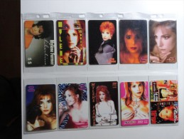 RARE : LOT OF 47 PHONE CARDS OF MYLENE FARMER ( LIMITED EDITIONS) SEE FRONT & BACK - Music
