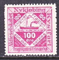 DENMARK  NYKJOBING  SHIP  POST   Fault   * - Local Post Stamps