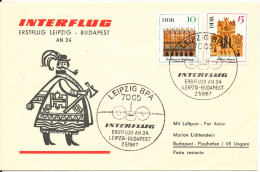 Germany DDR First flight Interflug Leipzig - Budapest 2-5-1967