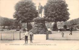 CPA Saint-Denis Le Square Thiers Et La Statue De Vercingétorix (animée) R1311 - Saint Denis