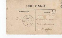 Tampon Uccle  Bruxelle   Ukkel Bruxelle Tampon Numéro 13 De Caen  L'abbaye Aux Hommes1912 - Postmark Collection