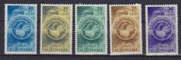 SURINAME 1969 BENEFICENZA YVERT 491-495 MLH VF - Suriname