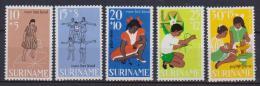 SURINAME 1968 A FAVORE DEI GIOVANI YVERT. 486-490 MLH VF - Suriname