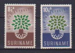 SURINAME 1960 ANNO DEL RIFUGIATO YVERT. 332-333 MLH VF - Suriname