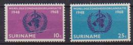 SURINAME 1968 CHIESA RIFORMATA DA PARAMARIBO YVERT. 476-477 MLH VF - Suriname