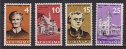 SURINAME 1966 MISSIONE DI REDEMPTORISTES YVERT. 432-435 MLH VF - Suriname