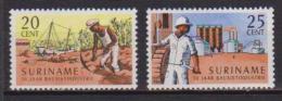 SURINAME 1966 ESTRAZIONE DELLA BAUXITE YVERT. 450-451 MLH VF - Suriname