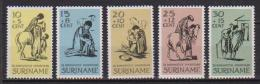 SURINAME 1967 IL BUON SAMARITANO YVERT. 452-456 MLH VF - Suriname
