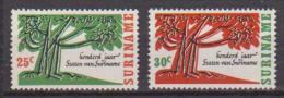 SURINAME 1966 CENTENARIO DEL SURINAM  YVERT 441-442  MLH VF - Suriname