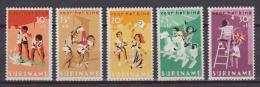 SURINAME 1966 A PROFITTO DEI GIOVANI YVERT. 445-449 MLH VF - Suriname