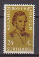 SURINAME 1965 A.LINCOLN YVERT. 409 MLH VF - Suriname
