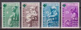 SURINAME 1965 CROCE VERDE YVERT. 405-408 MLH VF - Suriname