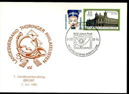 DDR PP21 D2/004 Privat-Postkarte  LANDESVERBAND THÜRINGEN Sost.1990  NGK 7,00 € - [6] Repubblica Democratica