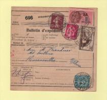 Bulletin D´expedition - 5f La Rochelle Perfore - Strasbourg - 27-5-1938 - Storia Postale