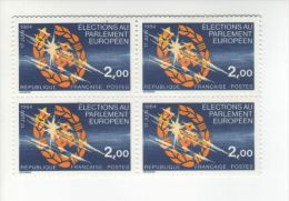 1984 - 2e élections Au Parlement Européen -  Bloc  De Timbre  N° 2306 X 4 - Neufs