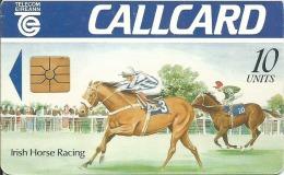 CALLCARD 10 UNITS IRISH HORSE RACING GEM ETAT COURANT - Irlande