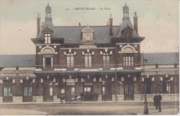 131 - BERCK PLAGE - La Gare   ( - Petite Animation - Carte écrite ) - Stations Without Trains