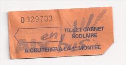 Rare : Ticket de Bus Scolaire. (Voir commentaires)