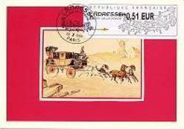 FRANCE (2009) - Carte Maximum Card - ATM 2009 - L´ADRESSE Musée Poste - Post Museum - Malle-poste Berline - Cartas Máxima