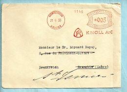 KNOLL A-G LUDWIGSHAFEN  Du 21/06/1933. (P6860) - Marcofilia - EMA ( Maquina De Huellas A Franquear)