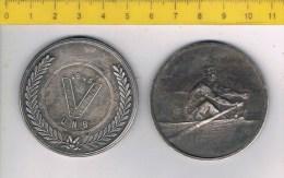medaille 1033 rowing - aviron - roeien - V  U.N.B.  1945