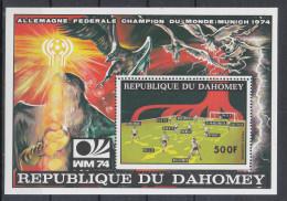 "Dahomey   -   1974. Foglietto "" Germany Occ. Winner "". MNH Fresh Sheet - Coppa Del Mondo"